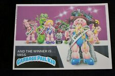 VINTAGE GARBAGE PAIL KIDS CARD 'THE WINNER IS MISS GARBAGE PAIL KID' 1986 TOPPS