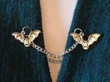 Flying Bats Men's Beautiful Fantastic Coller Tips Solid 925 Sterling Silver