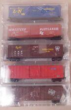 N Scale Micro-Train Line L&N Wm Prr St Marys Milwaukee 50' Box Car 5-Pack