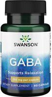 SWANSON GABA 250mg 60-180 Kapseln Gamma Aminobutyric Acid *Kostenloser Versand*