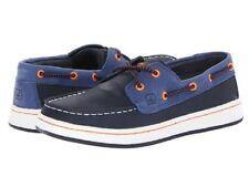 SPERRY TopSider Cupsole SO Navy Orange Leather Boat Shoes NIB PreSchool Sz 12.5m