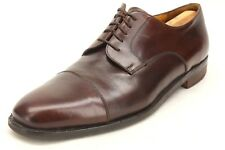Johnston & Murphy Cellini Brown Leather Derby Style Cap Toe Oxfords Size 11.5 M