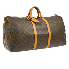 AUTH LOUIS VUITTON KEEPALL 60 BANDOULIERE TRAVEL HAND BAG PURSE MONOGRAM A33775