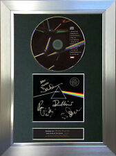 More details for pink floyd dark side of the moon signed autograph cd & cover mounted print a4 60