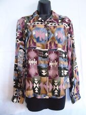 Five Star By Roper Women's Long Sleeve Button Up Multicolor Shirt Size Small