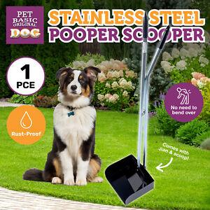 Pet Basic® Pooper Scooper Pan & Scoop Stainless Steel Rust Proof 90cm