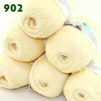 Sale 6 Skeins x50g Soft Acrylic Wool Cashmere Hand Knit Fine Crochet Yarn 02