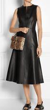 The Row Leather Dress Flipen Paneled sleeveless size 6