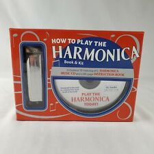 David Harp's How To Play The Harmonica Book & Kit Harmonica, Music Cd New in Box