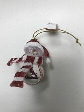 St Louis Cardinals Homerun Snowman Baseball Christmas Ornament