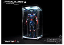 Toy Box Custom 1/6 Acrylic LED Clear Hall of Armor FOR Hot Toys Iron Man Patriot