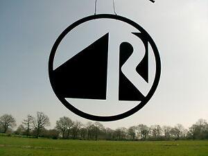 Raumausstatter das Zunftzeichen aus 3mm Stahl D=40cm Innungsschild Logo