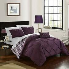 Chic Home Jacky 4 Piece Reversible Comforter Bag Pinch Pleat Ruffled Design Geom