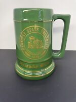 Vintage Kentucky State University Beer Stein Mug American Decorators Green Gold
