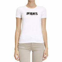 ARMANI JEANS 6X5T01 5J00Z Womens T Shirt White Casual Crew Neck Short Sleeve