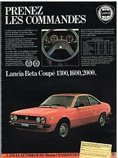 Publicité Advertising 1980 Lancia Beta Coupé 1300,1600,2000