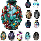 Unisex Hoodie Jacket Coat 3D Graphic Print Pocket Jumper Hooded Sweatshirt