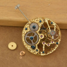 analog 6497fit vintage movement  Full Skeleton gold plated Hand Winding MO-03
