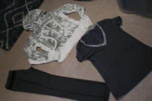 Lot of Lululemon Skinny Pants, Hoodie and Tee sz 8