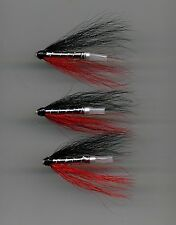 Tube Flies: Black, Red & Silver  : 25 mm long Aluminium tube x 3 (Code 562)