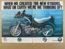 1993 BMW R1100RS Motorcycle photo vintage print Ad