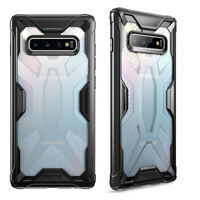 For Samsung Galaxy S10 Plus (2019) + Shockproof 360° Bumper TPU Cover Case Black