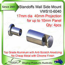 Standoffs Sign Fix Signage Support Wall Side Mount 40mm - for 6mm Panel