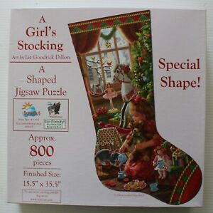 A Girl's Stocking - SunsOut 800 Piece Shaped Jigsaw Puzzle