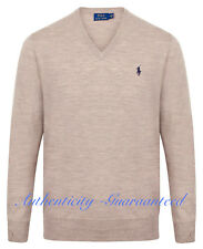 Polo Ralph Lauren Men's Genuine V Neck Jumper Merino Wool Large