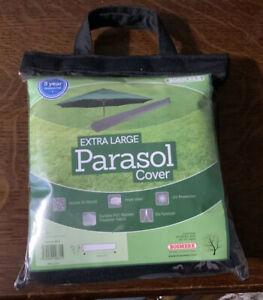 Bosmere Master Range 190cm Extra Large Garden Parasol Umbrella Cover Black MB595