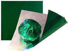 35 Blatt Dunkelgrün 100x100 bunte Alufolie Pralinen  Einwickelfolie zertifiziert