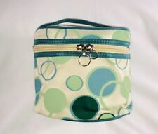 Arbonne Travel Size Makeup~Toiletry Soft Case MOD Retro Top Handle Zip Lid 6x6x4