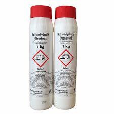 2 x 1 kg Natriumhydroxid NaOH Ätznatron Ätzsoda Seifennatron Rohrreiniger
