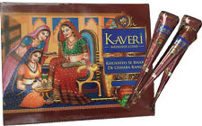 12 Brown Natural Henna Cones Paste Mehndi Temp Tattoo Kit Kaveri FREE Shipping