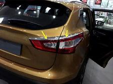 4pcs ABS Tail Light Rear Lamp Eyelid Trim For Nissan Qashqai J11 2014 2015 2016