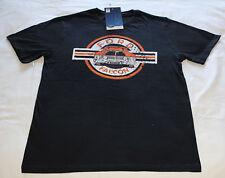 Ford Falcon XY GT Mens Black Orange Printed Short Sleeve T Shirt Size M New