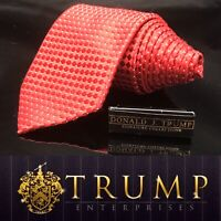 DONALD J. TRUMP~ SIGNATURE COLLECTION Red  Beautiful Dapper NECKTIE POWER TIE