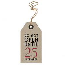 East of India  DO NOT OPEN UNTIL 25 DECEMBER 6 Parcel Gift Tags Christmas
