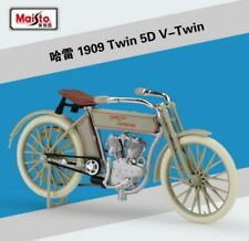 1:18 Maisto Harley Davidson 1909 TWIN 5D V-TWIN Bike Motorcycle Model White New