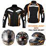 Motorbike Motorcycle Scooter Full Face Helmet Racing Waterproof Jacket Textile