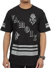 FAMOUS Death Squad Mens Tee - Black Stars And Straps Street Skate Moto Surf