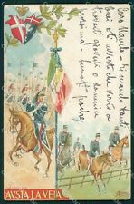 Militari Reggimentali VI Lancieri di Aosta Cervi STRAPPINO cartolina XF2128