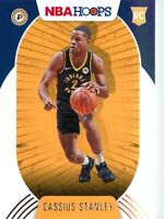 Cassius Stanley RC 2020-21 Panini NBA Hoops Base Rookie Card #215 Indiana Pacers