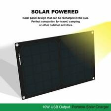 ECOWORTHY 6V 10W Portable Solar Charger Panel with USB Port for Cell Phone Campi