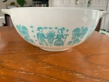 Vintage Pyrex 443 2 1/2 QT Cinderella Bowl Turquoise Amish Pattern