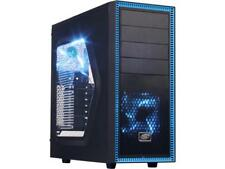 DEEPCOOL TESSERACT SW Mid Tower Computer Case with Side Window and 2 Blue LED Fa