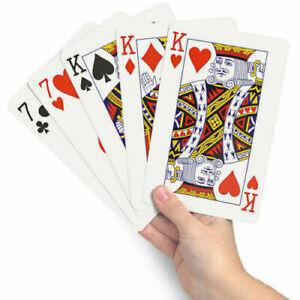 1/12/24pcs Jumbo Playing Card Large Deck Card Plastic coated 8.7 x 12.8cm