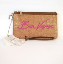 Tommy Bahama Wristlet Brown Pink Boca Chica Beach Bon Voyage Accessory Wood $68