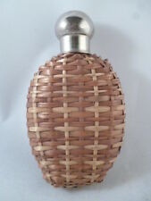 Antique Hip Flask, Wicker/Rattan Outer Jacket