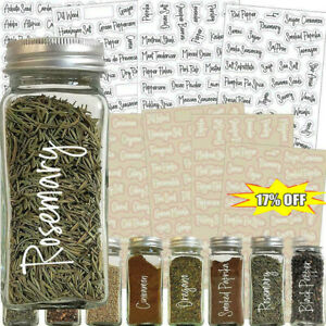 274 Stickers Spice Herb Storage Jar Labels Stickers Label Decals Pantry NICE